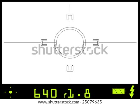 A view through a camera view finder.  Any picture can be inserted into this vector file to give the appearance of actually taking the snap shot. - stock vector