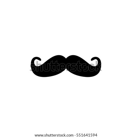 Vintage Hipster Mustaches Fashion Symbol Men Stock Photo Photo