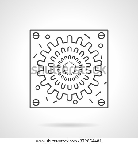 A virion abstract model. Microbiology and virology. Virus epidemic. Science research and healthcare. Flat line style single vector icon. Element for web design, business, mobile app.  - stock vector