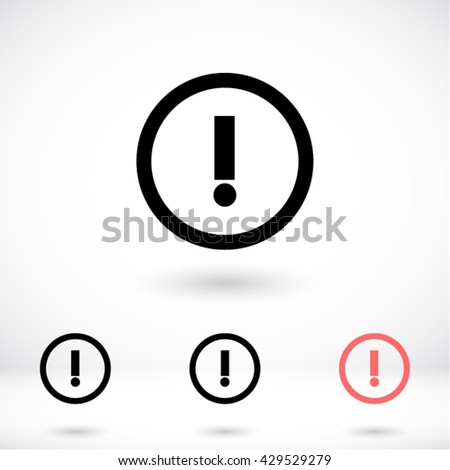 A WARNING Icon, A WARNING icon flat, A WARNING icon picture, A WARNING icon vector, A WARNING icon EPS10, A WARNING icon graphic, A WARNING icon object, A WARNING icon JPEG, A WARNING icon picture - stock vector
