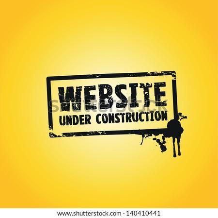 a website building splash stamp in black - stock vector