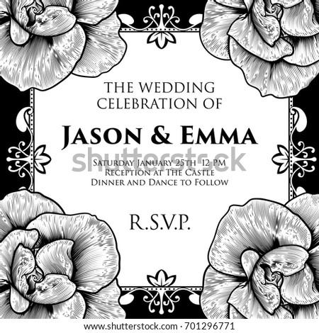Wedding Invitation Invite Save Day Template Stock Vector 701296771 ...