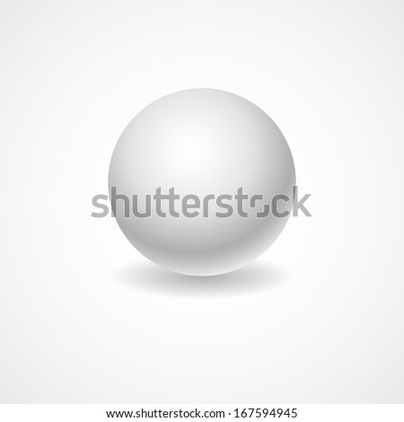 A white globe on a light background lighting for your design - stock vector
