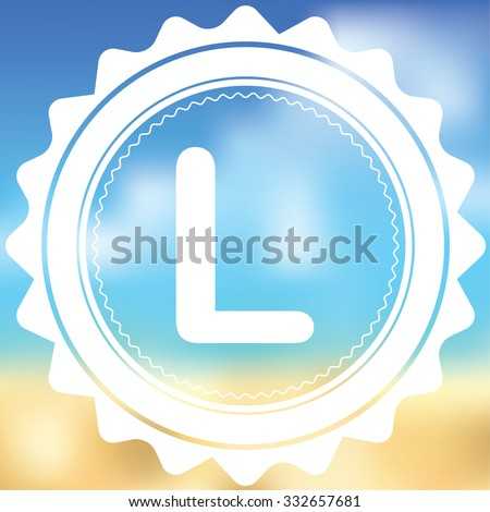 A White Icon Isolated on a Blurred Background - L
