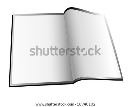 A white magazine / booklet is opened up with blank space to add your text. - stock vector