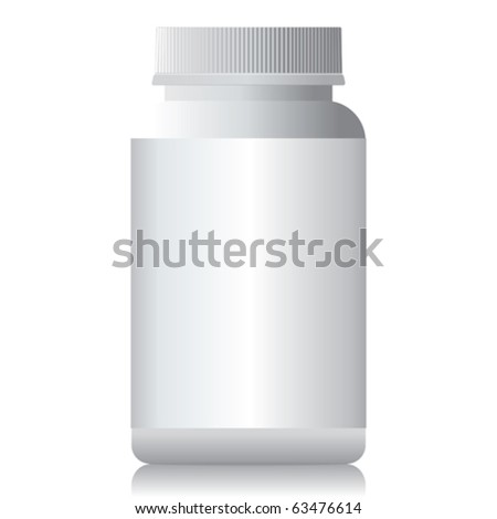 A white plastic bottle isolated. - stock vector