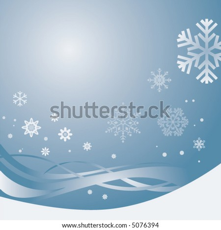 A  winter Christmas background in silver blue