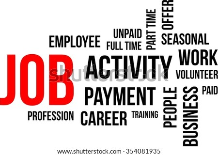 A word cloud of job related items - stock vector