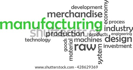 A word cloud of manufacturing related items - stock vector