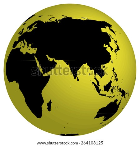 A World Map and Globe Detail Illustration