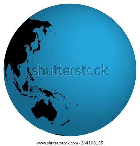 A World Map and Globe Detail Illustration  - stock vector