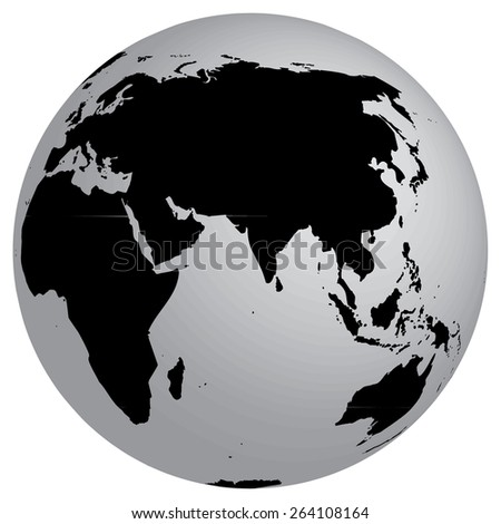 World map globe detail illustration stock vector 264108164 a world map and globe detail illustration gumiabroncs Image collections