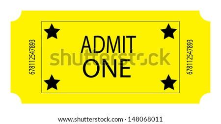 A Yellow Ticket. Vector - stock vector