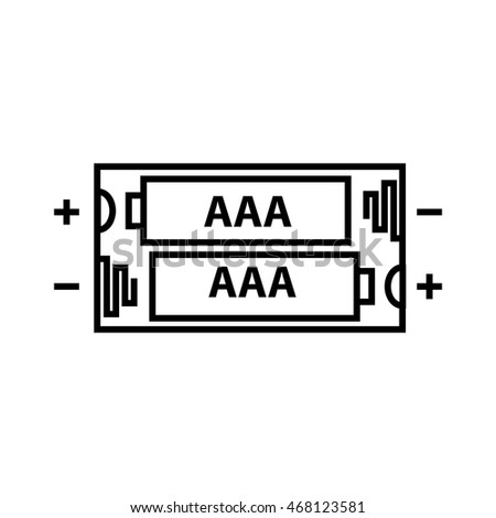 Aaa Battery Icon Vector Illustration 468123581