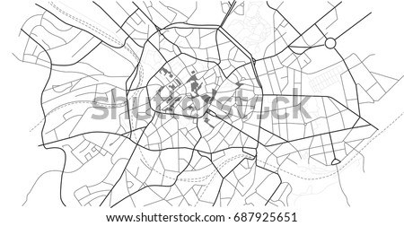 Aachen Vector City Map Well Organized Stock Vector 687925651