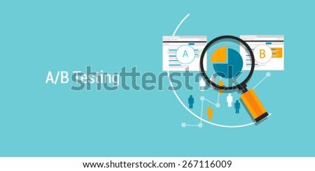 AB testing - stock vector