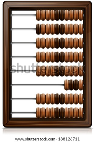 abacus abstract vector illustration with reflection and shadow eps 10 . abacus - stock vector