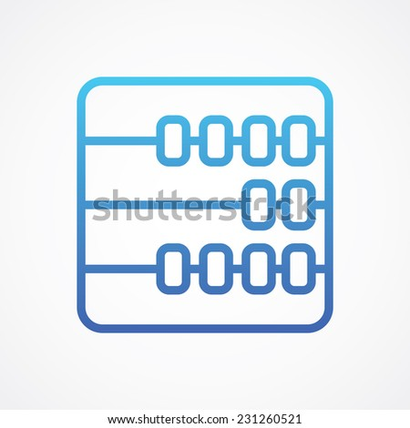 Abacus Counter icon, vector illustration. Simple Flat Metro design style. ESP10 - stock vector