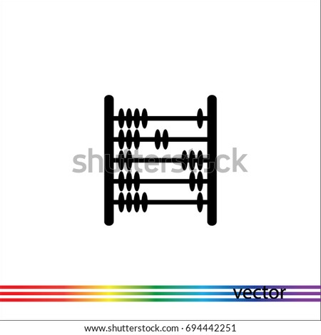 Abacus icon, vector design