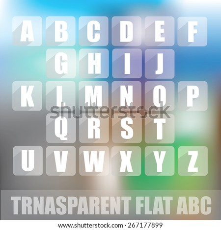 ABC - transparent flat design  - stock vector