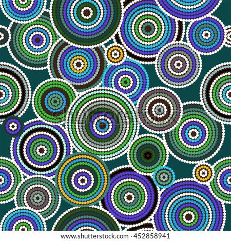 Aboriginal art vector seamless background - stock vector