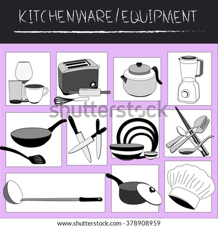 About Kitchenware or equipment - graphic