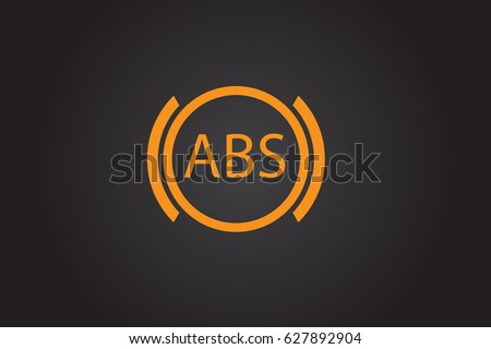 Abs Warning Sign Car Dashboard Icon Stock Vector - Car sign on dashboard