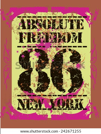 absolute freedom graphic design vector art - stock vector