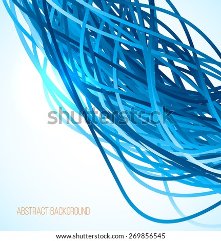 Absract blue background with lines. Vector illustration - stock vector