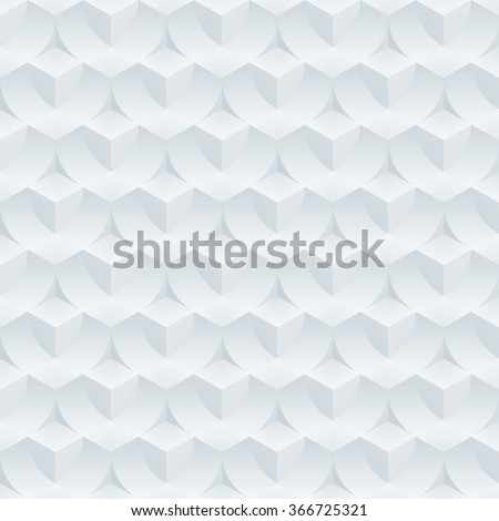 Absract optical illusion. Seamless vector background with 3D effect. - stock vector