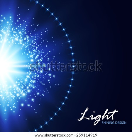Abstact blue shining background. Vector illustration - stock vector