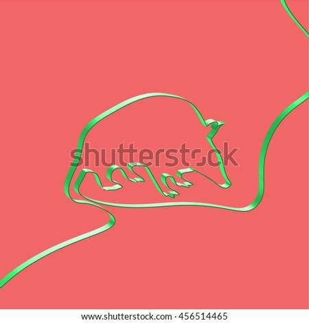 Abstact ribbon forms a tatu, vector illustration - stock vector
