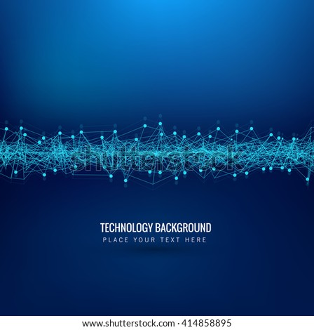 Abstarct blue technology background - stock vector