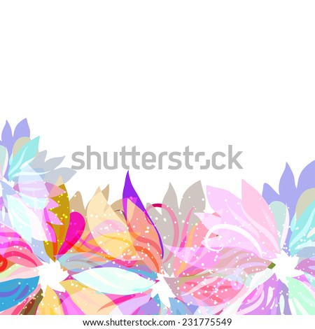 abstra?t background with colors flowers. Not seamless - stock vector