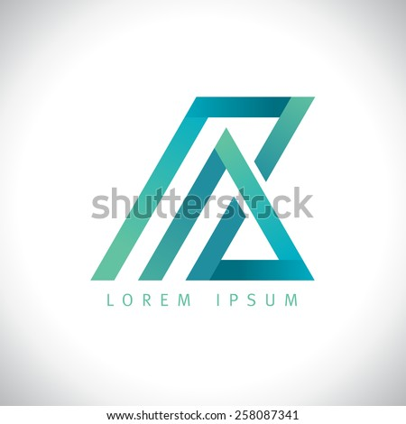 Abstract A and Z  letters logo. - stock vector