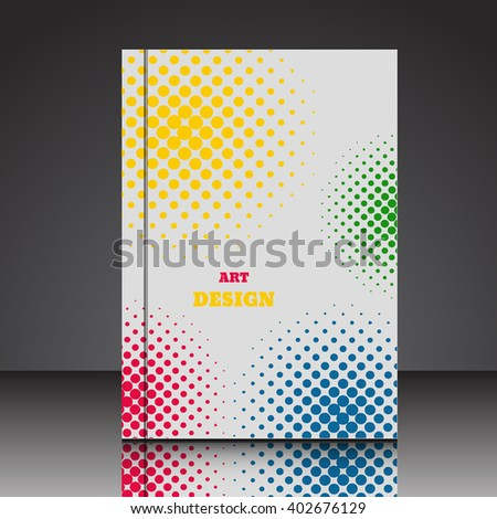 Abstract  A4  brochure background eps10 vector illustration 4 - stock vector
