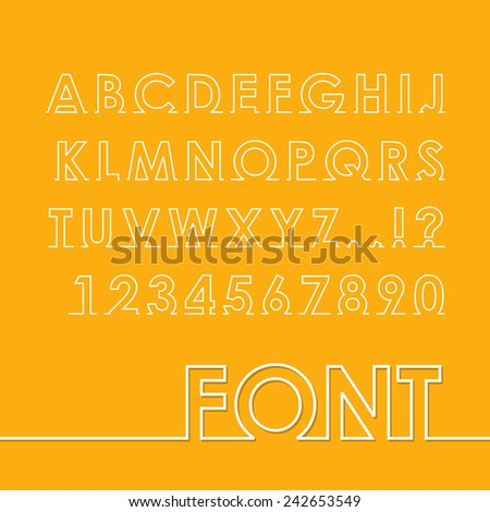 Abstract alphabet letter and number. Vector illustration. - stock vector