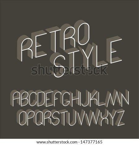 Abstract alphabet - retro style - stock vector