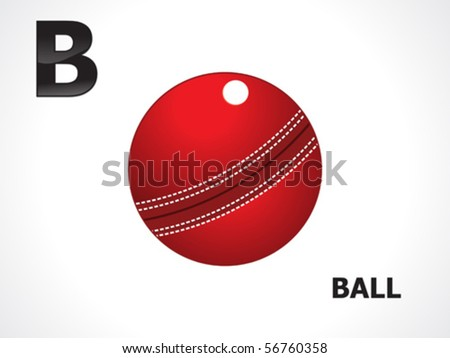 abstract alphabetical cricket ball vector illustration