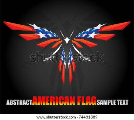 abstract american flag 2 - stock vector