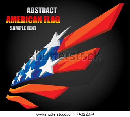 abstract american flag 1 - stock vector