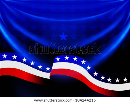 Abstract American Flag background with waving pattern for 4th July American Independence Day and other occasions. EPS 10. - stock vector