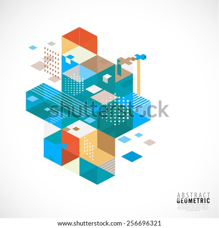 Abstract and creative geometric template for corporate business and technology, vector illustration