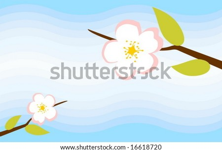 abstract apple tree blossom background - stock vector
