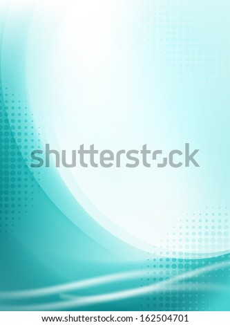 abstract aqua flowing background - stock vector