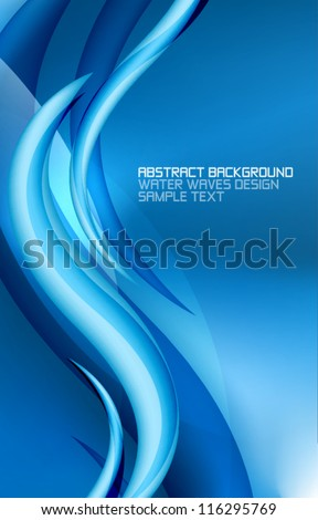 Abstract aqua world and waves. Vector eps10 background - stock vector