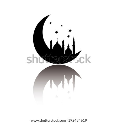 Abstract arabic icon isolated on white background, vector illustration - stock vector
