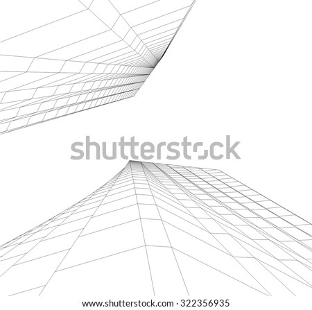 abstract architectural background - stock vector