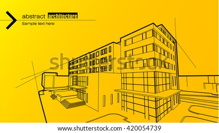 Abstract architectural background layout design - stock vector