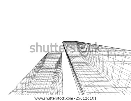 Abstract architectural background. Modern building construction